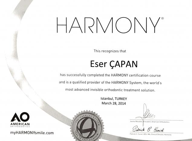 harmony certificate